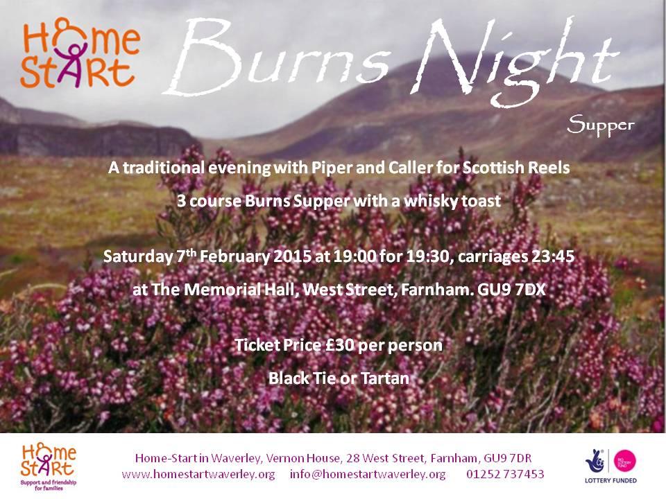 2015 Burns night flyer