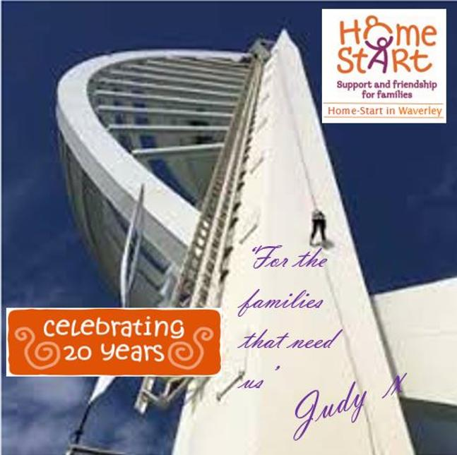 Spinnaker Tower abseil for Home Start in Waverley